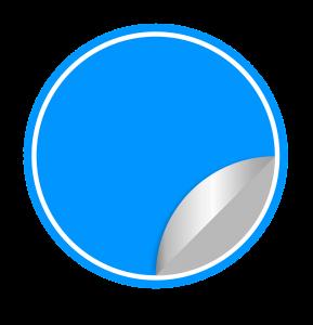 transparenter Aufkleber