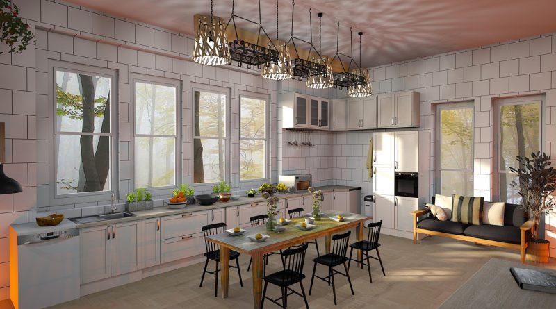 Küche Wohnraum Licht